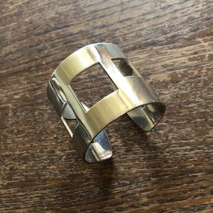 Jewelry - Sterling Silver Abstract Geometric bangle